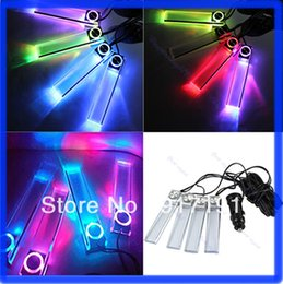 Wholesale Led Floor Tracking - Free Shipping Car Charge 4 in 1 LED Interior Decoration Floor Decorative Colorful Light Lamp order<$18no track