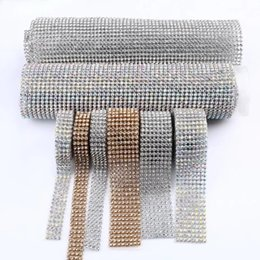 Wholesale Metal Rhinestone Mesh - 2016 new Stickers DIAMOND MESH RHINESTONE WRAP RIBBON CRYSTAL TRIMMING CAKE BANDING Car Vehicle Wedding Decoration Party Decor E461J