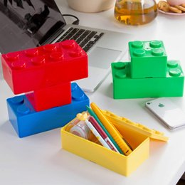 Wholesale Multicolor Bedding - 1 pcs hot sale Multicolor multifunctional building blocks can be stacked for storage box kitchen furniture and office stationery q171128