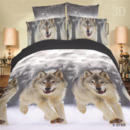 Wholesale Tiger Animal Comforters - Wholesale-On Sale Newest 3Pcs Animals Flowers Tiger 3D Bedding sets Cotton Home Bedding-set Bed Set Quilt Duvet Pillow Covers No Comforter