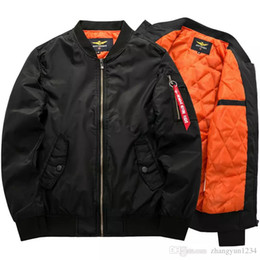 Wholesale Motorcycle Wear Brands - Free Shipping Jacket Mens Thick Warm Autumn Winter Military Motorcycle Men Jackets Flight Pilot Air Force Brand Coat M-6XL
