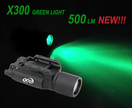 Wholesale Cnc Led Light - Tactical CNC Making SF X300 LED Green Light WeaponLight Aluminium Alloy Construction Black