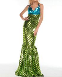 Wholesale Halloween Adult Fancy Dress - Free shipping Mermaid Costume for Women Sexy Adult Halloween Fancy Dress
