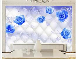 2020 обои для рабочего стола Пользовательские фото обои большой 3D диван ТВ фон обои настенная роспись стены Голубая роза 3d настенная роспись обои 201515935 дешево обои для рабочего стола