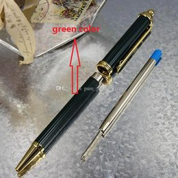 Wholesale роскошные patern ручка металла Корона башни головы зеленый стиль рисования Золотой клип шариковая ручка для бизнес офиса школы