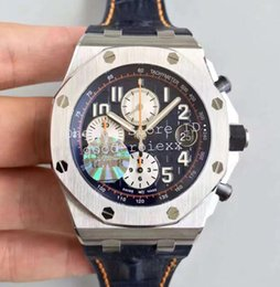 Wholesale 12 Mm - 3 Style Men's Sport Watches JF Factory Automatic Cal.3126 Movement Chronograph Watch Men 12 Oclock second hand 26470 Eta Leather Stopwatch
