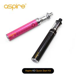 100% d'origine Aspire K3 kit de démarrage rapide avec 1200mAh K3 batterie 2 ml K3 réservoir noir rose e cig stylo stylo kit ? partir de fabricateur