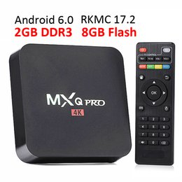 Wholesale Quad Core 8gb Ram - 2GB RAM rk3229 mxq pro 4K Ultimate HD Android 6.0 smart tv box S905W Quad Core 8GB 2.0GHz Hardware Decoding WIFI Miracast
