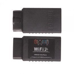 Wholesale Daewoo Scan - ELM327 WIFI OBD2 EOBD Scan Tool Support Android And IPhone IPad Software V2.1 By Free Shipping