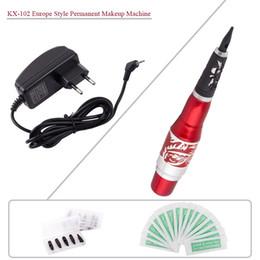 Wholesale Cosmetic Tattoo Machine Kits - KX-102T Professional Tattoo Machine kits Permanent makeup eyebrows pen cosmetic Machine Complete Tattoo Machine kits