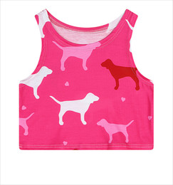 Wholesale Natural Puppy - FG1509 Funny dog tank tops for women Summer printed 3d sleeveless Graphics animal Puppy vest Harajuku tank top