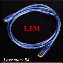 Wholesale Laptop Extend - 2016 USB Extended Line 2.0 Standard 150cm OTG USB Data Cable Universal Transparent 2014 New Fashion Hot Sell Freeshipping