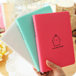 "Wholesale Leather Travel Journal - ""Molang Rabbit"" 1pc 2016 2017 Cute Diary Any Year Planner Pocket Journal Kawaii Notebook Agenda Scheduler Memo Korean Study Gift"