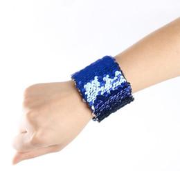 Magia paillettes sirena braccialetto donne ragazza paillettes braccialetto di fascino di pesce scale gioielli braccialetto regali colori casuali 1500 pz da braccialetto di pesce del braccialetto fornitori