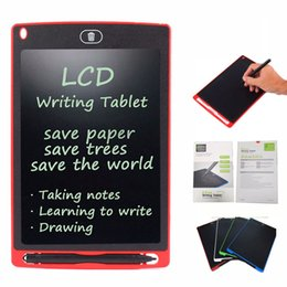 Wholesale Tablets Inches - 8.5 inch LCD Writing Tablet Drawing Board Blackboard Handwriting Pads Gift for Kids Paperless Notepad Tablets Memo With Upgraded Pen