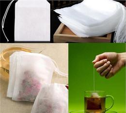 Teefilterbeutel string online-Art und Weise heiße leere Teebeutel-Teebeutel-Schnur heilen Dichtungs-Filterpapier-Teebeutel 5,5 x 7CM für Kraut-losen Tee G185