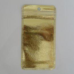 Wholesale Plastic Weave Bag - 8.5*16cm Clear  Little Items Non - Woven Zipper Poly Pack Bag 100Pcs  Lot Retail Ziplock Package Pouch 3 Colors With Hang Hole