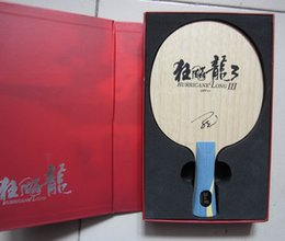 Wholesale Dhs Hurricane Blade - Original NEW DHS Hurricane Long 3 professional table tennis blade special for the world champion Mr. Ma Long pure wood table tennis raquets