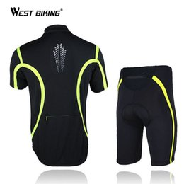Wholesale Cycling Shorts Cushion - Wholesale-Breathable Wicking Jersey Short-Sleeved Suit-Set Mountain Bike Cloth M L XL XXL Silicone Cushion Cycling Short Sets Cloths