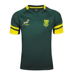 Transferencia de camisetas online-¡Envío gratis! Rugby Union 2016-2017 Sudáfrica País Nueva jersey Impresión de transferencia de calor por alta temperatura Camisetas de rugby