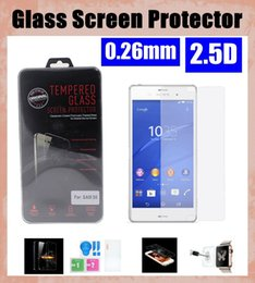 Wholesale Xperia Z1 Screen Protectors - tempered glass screen protector mirror glass 0.26mm for sony xperia z1 z2 z3 z4 lg g2 g3 mini g4with retail package SSC022
