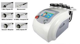 Wholesale Cavitation Screen - 6 in 1 7 Inch Screen Ultrasonic Liposuction 40K Cavitation CELLULITE LIP Rf Microcurrent Multipolar Fat Dissolve Slimming Machine New
