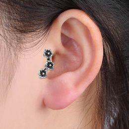 Wholesale Flower Ear Cuff Stud Earring - Fashion Vintage Stud Earring Gothic Punk Temptation Flowers Ear Cuff Wrap Clip Earring For Women Jewelry Accessories Earrings 15ED322