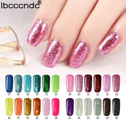 Wholesale Nail Polish 24 Colors - Wholesale- 24 Colors Shining Diamond Glitter UV Nail Gel Polish Soak Off Gel Lacquer Use With Base Top Coat Gelpolish for Nail Art Manicure
