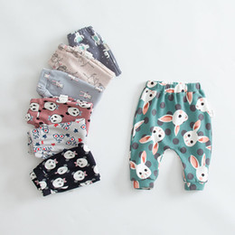 Wholesale Kids Boys Harem Pants - Autumn Pants for Kids Animal Character Geometry Print Boys Girls Children Pants Harem Pants Baby Girls Leggings Loose 9-24M