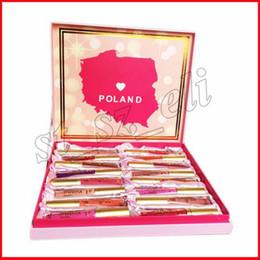 Wholesale poland box - Faced Makeup Poland Edition Matte Melted Liquid Lipstick Lip Gloss 16pcs Lipstick Set With box Christmas Gifts