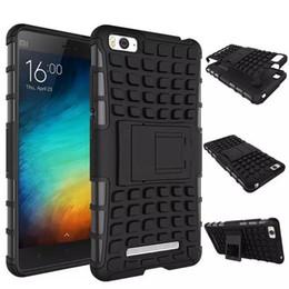 Wholesale I Phone Case Hybrid - Xiaomi Mi4i Case Luxury Heavy Duty Hybrid Impact Rugged mobile Phone Case With PC Kickstand Protective For Xiaomi Mi4i Mi4 i M4i
