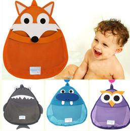 Wholesale Hanging Toy Organizer - Cartoon Baby Bath Toy Storage Bags Kids Shower Sundries Toys Tidy Organizer Net Mesh Bag Hanging Pouch Bathroom Storage KKA3503