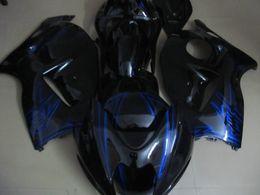Wholesale Black Hayabusa Fairing Kit - Injection Mold FAIRING KITS For SUZUKI Haybusa GSXR1300 1996 1999 2000 2007 GSX-R1300 96 97 00 03 07 GSXR 1300 Blue Fairing parts