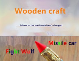 Wholesale China Classic Cars - Wooden crafts Fight Wolf Missile car Use high quality wood Classic charm Insist on handmade hasn't changed