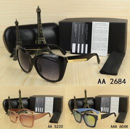Wholesale Party Sunglasses - Hot Sell Top Quality men woman Sunglasses with origianal box eyeglasses gold Metal logo classical Vintage Gifts dress Party Casual glasses