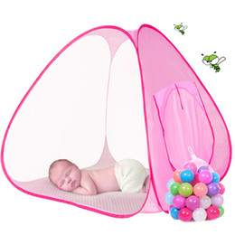 Niños grandes carpas interiores online-Lovely Baby Play Tent Child Kids Indoor Outdoor House Big Portable Ocean Balls Grandes juegos de regalo Jugando carpa sin pelota