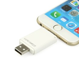 Wholesale Free Usb Driver - Free dropshipping New USB Storage Flash Driver HD 8GB 16GB 32GB 64GB iFlashdriver For Apple iPhone 5 & 6 & 6 Plus for 12 months warranty