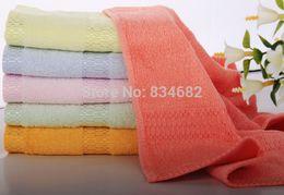Wholesale Cheap Towels Bulk - Wholesale-5pcs lot Free Shipping New 2015 Bamboo Fiber Bath Towel 35x70cm Beach towel Spa Salon Wraps Terry Towels cheap bulk towel toalha