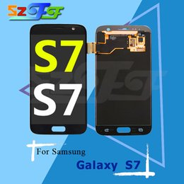 Wholesale Repair Parts Galaxy - For Samsung Galaxy S7 Original LCD Screen Display with Touch Screen Digitizer Assembly Replacement Repair Part Free Shipping DHL