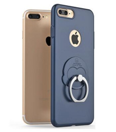 Wholesale Monkey Phone Covers - metallic PC phone case For iphone7 7 plus Protective Back with a ring monkey buckle bracket all-inclusive protective cover case