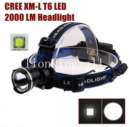 2019 roter cree led scheinwerfer AloneFire HP87 Cree XM-L T6 LED-Scheinwerfer-Scheinwerfer für 1 / 2x18650 -schwarz, blau, rot günstig roter cree led scheinwerfer