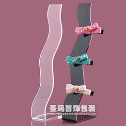 Wholesale Display Stands Headband - Free Shipping Acrylic headband hair clip display rack S -shaped hairpin clip stand hair clip display stand wholesale 10 pcs