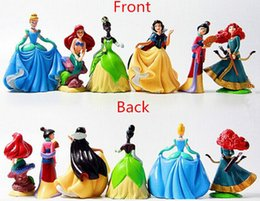 Wholesale Rapunzel Baby Doll - 6pcs lot Princess pvc figure doll Cinderella Snow White Rapunzel Mermaid Ariel Jasmine Belle baby princess toy