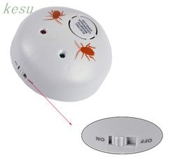 Wholesale Electronic Pest Control Machine - Wholesale-Free Shipping 5pcs Lot New Extra Electronic Ultrasonic Indoor Cockroaches Expeller Bug Scare Machine Pest Control Repeller 4589