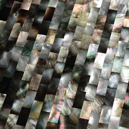 Wholesale Pearl Tile Backsplash - 10 x 20mm brick pattern Natural color Mother Of Pearl shell mosaic bathroom washroom wall tile kitchen backsplash tile#MS022