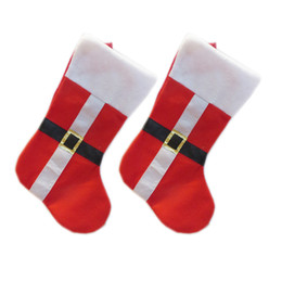 Wholesale Red Snowman - New Christmas Stocking christmas socks supplies Red Santa Socks Snowman Christmas Kid Gift Stockings bag IC832