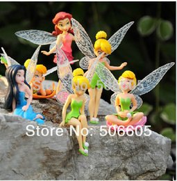 Wholesale Tinker Bell Free Shipping - Free shipping 10set High Quality PVC (6pcs set) Tinkerbell Fairy Adorable tinker bell Figures toy doll