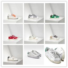 GGDD Gooses Parejas Mujer Zapatillas Super Star Zapatos Hombres Scarpe Donna Uomo Mayo en Pelle E Stella en Pelle Plata Oro Blanco Robar desde fabricantes