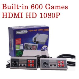 Wholesale Pal Tv - HD HDMI Out Retro Classic Game TV Video Handheld Console Entertainment System Built-in 600 Classic Games For NES Mini Game PAL&NTSC