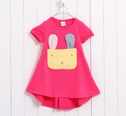 2019 hasenhemd kinder Das billigste! ! Kinder Kleidung Mädchen Bunny Mädchen Baumwolle Kurzarm-T-Shirt Kinder Kurzhülse Kind günstig hasenhemd kinder